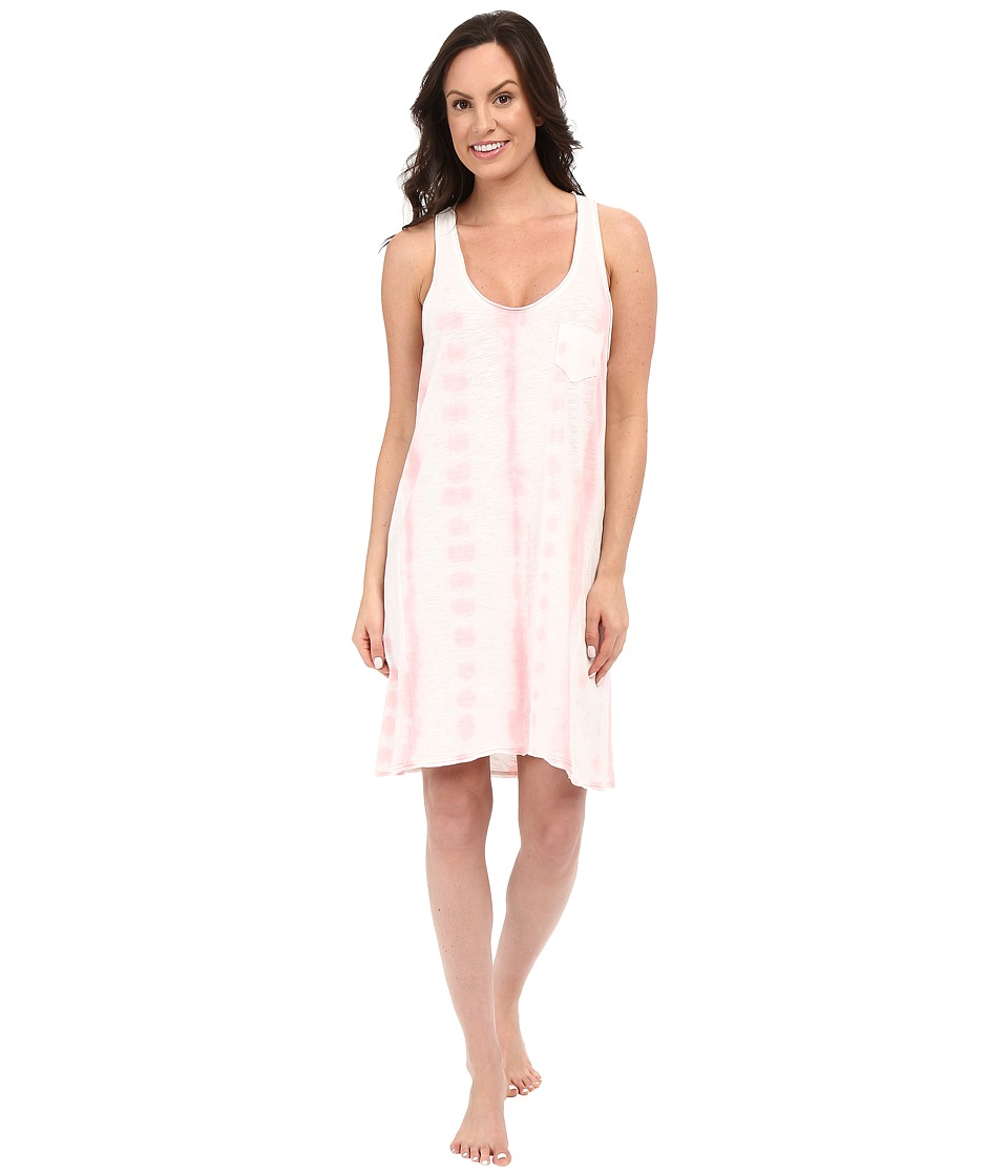 Jane amp Bleecker Tie Dye Slub Chemise 3521158 Pink Womens Pajama