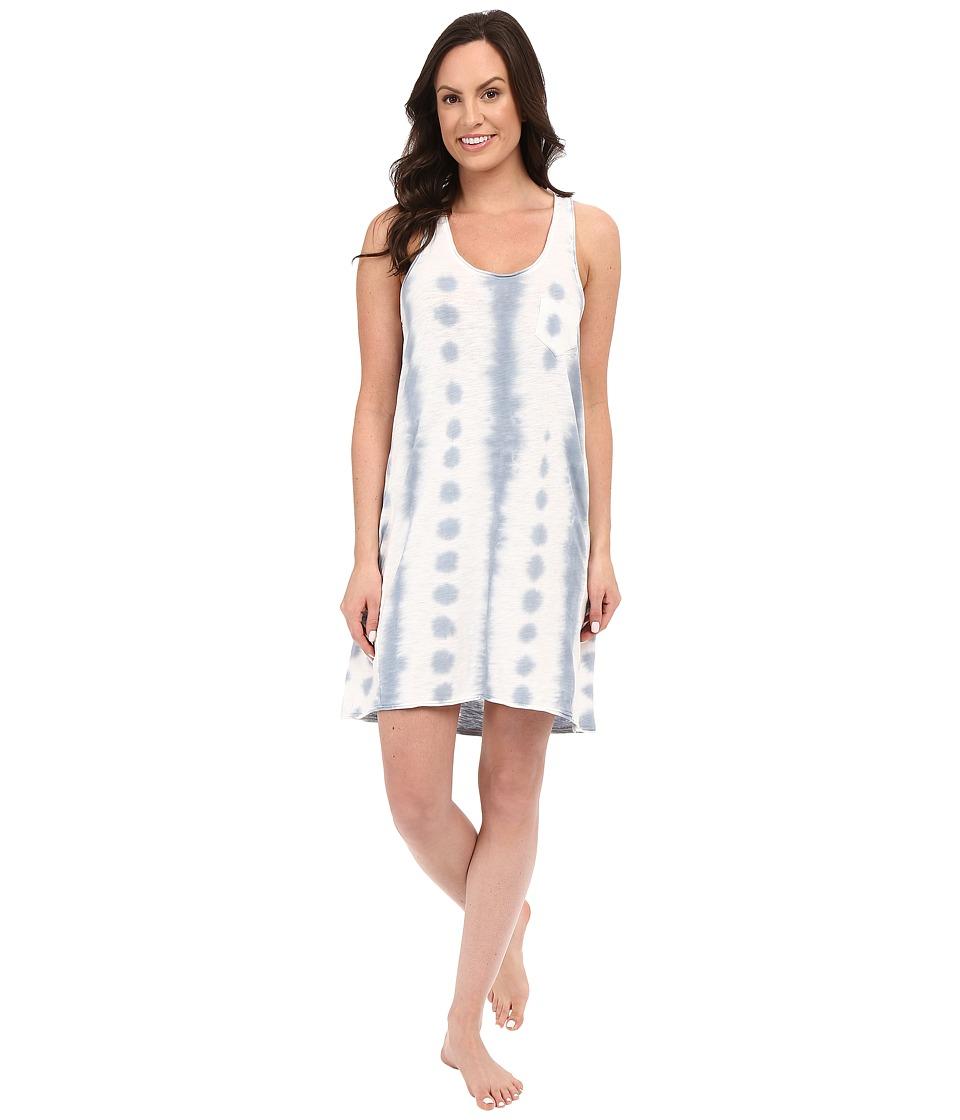 Jane amp Bleecker Tie Dye Slub Chemise 3521158 Blue Womens Pajama