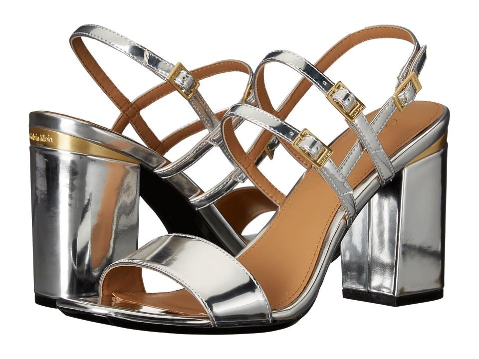 Calvin Klein - Caisiey (Silver Metallic Leather) Women