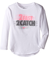 Nike Kids - 2 Fast 2 Catch Modern Long Sleeve Tee (Little Kids)