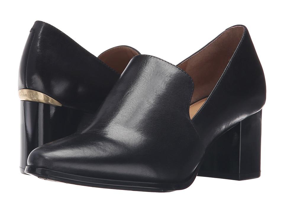 Calvin Klein Faye (Black Leather) Women