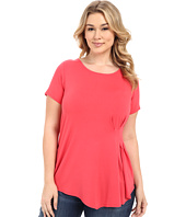 Vince Camuto Plus - Plus Size Short Sleeve Side Pleat Top