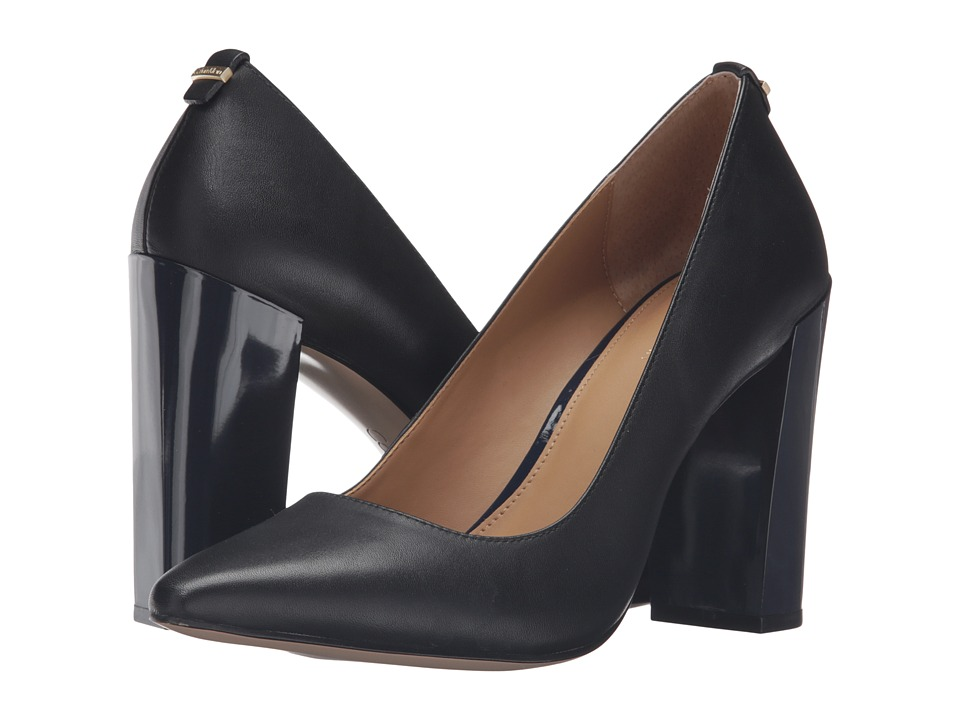 Calvin Klein - Neema (Black/Deep Navy Leather) Women