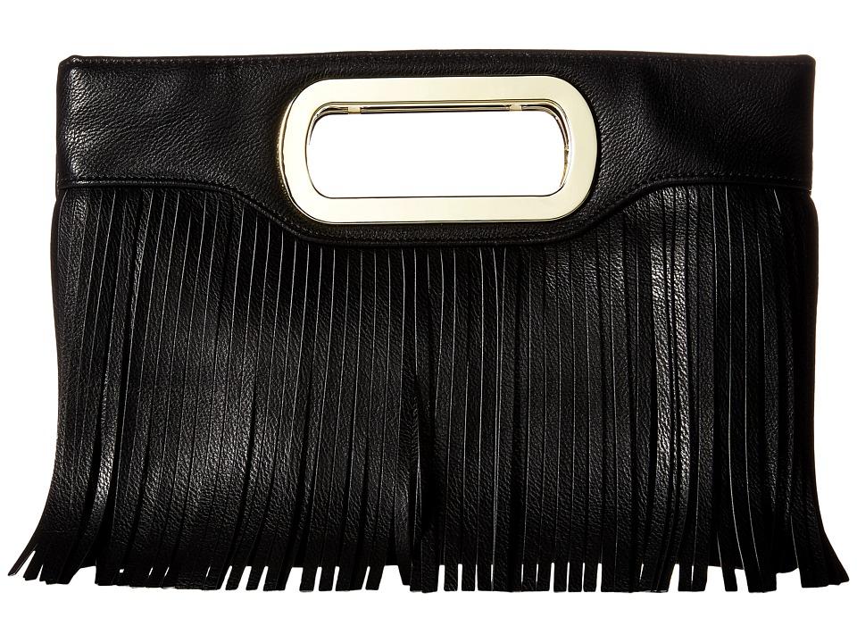Jessica McClintock - Tiffany Fringe Clutch (Black) Clutch Handbags