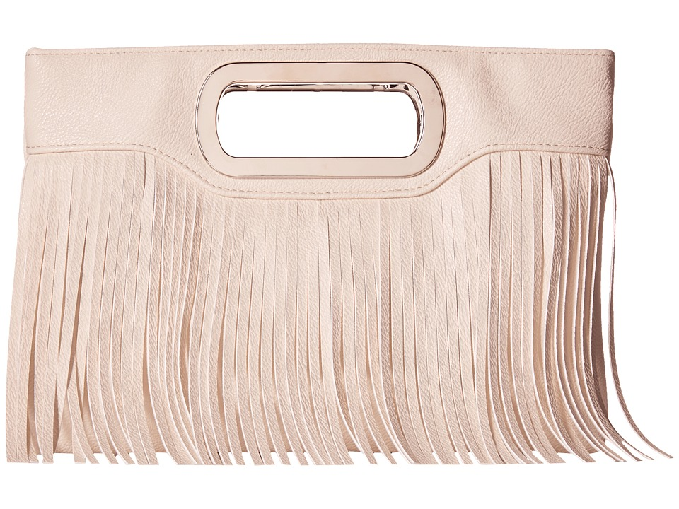 Jessica McClintock - Tiffany Fringe Clutch (White) Clutch Handbags