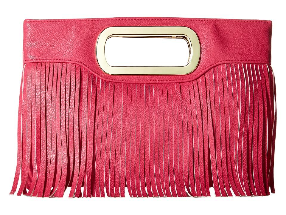 Jessica McClintock - Tiffany Fringe Clutch (Hot Pink) Clutch Handbags