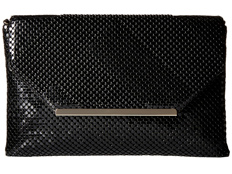 Jessica McClintock - Kiera Mesh Envelope Clutch (Black) Clutch Handbags