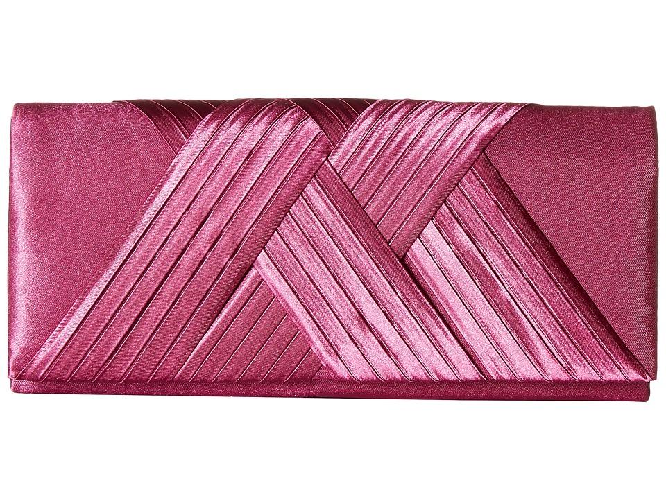 Jessica McClintock Abbey Satin Clutch Raspberry Clutch Handbags