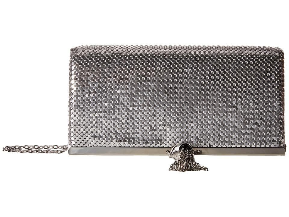 Jessica McClintock - Cassie Tassle Clutch (Silver) Clutch Handbags