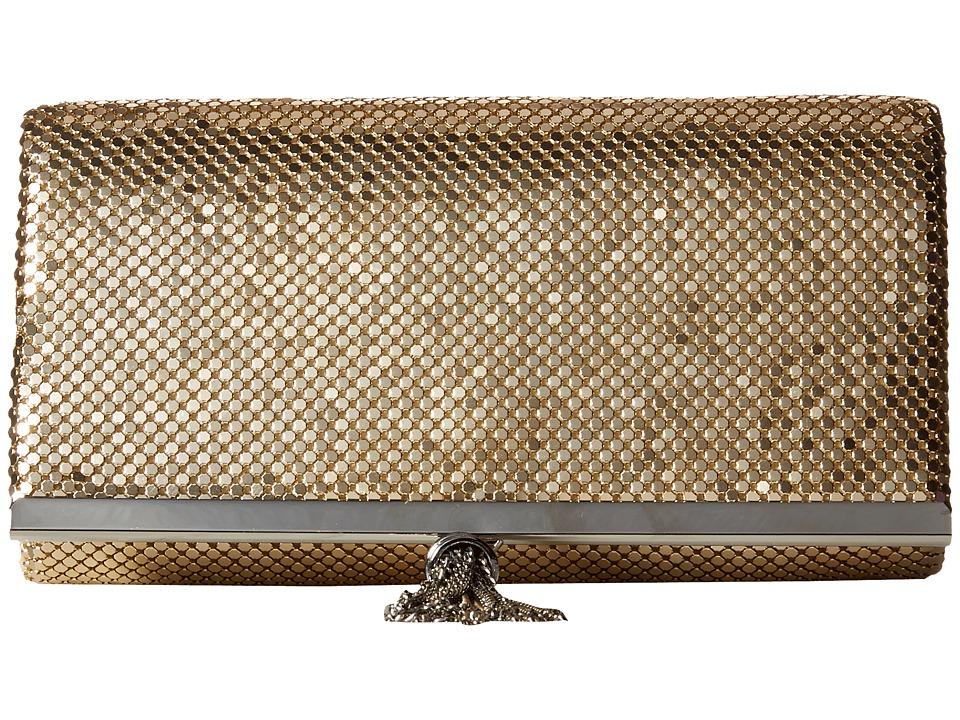 Jessica McClintock - Cassie Tassle Clutch (Light Gold) Clutch Handbags
