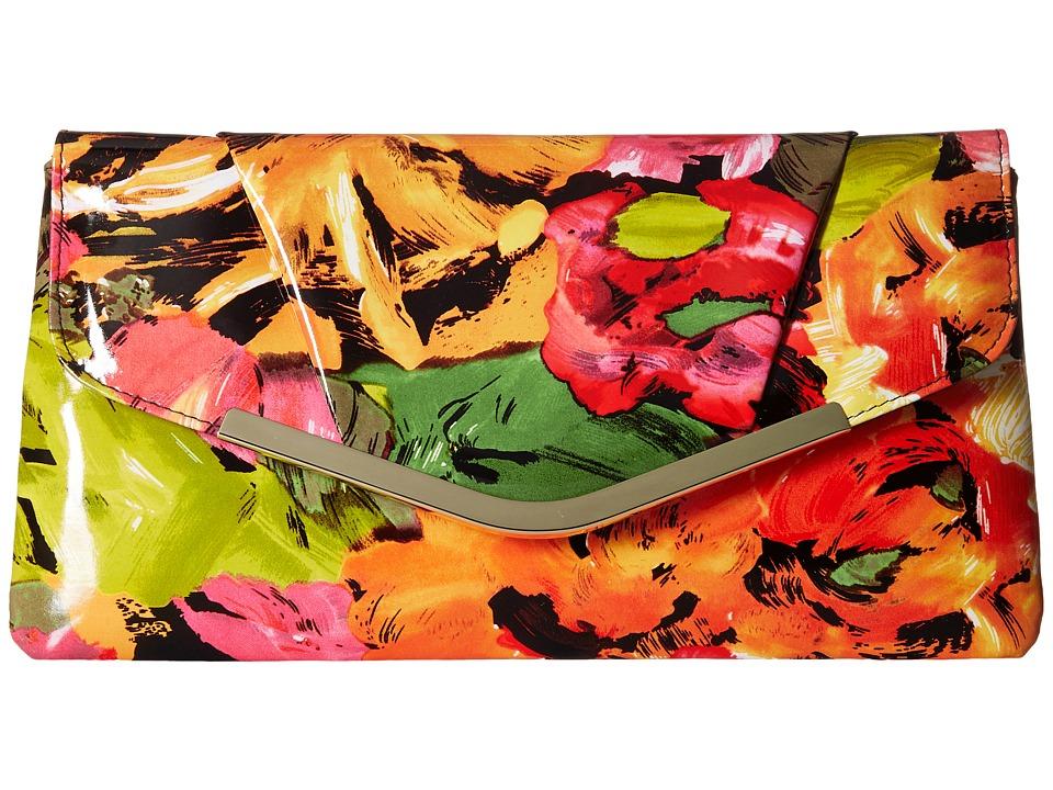 Jessica McClintock - Arielle Floral Envelope Clutch (Floral) Clutch Handbags