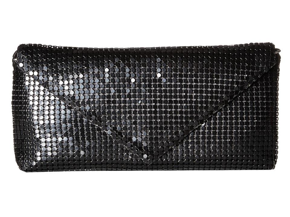 Jessica McClintock - Grace Mesh Envelope Clutch (Black) Clutch Handbags
