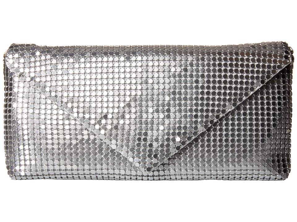 Jessica McClintock - Grace Mesh Envelope Clutch (Silver) Clutch Handbags