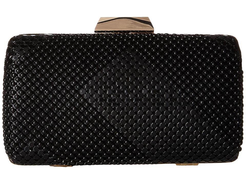 Jessica McClintock - Callie Mesh Minaudiere (Black) Clutch Handbags
