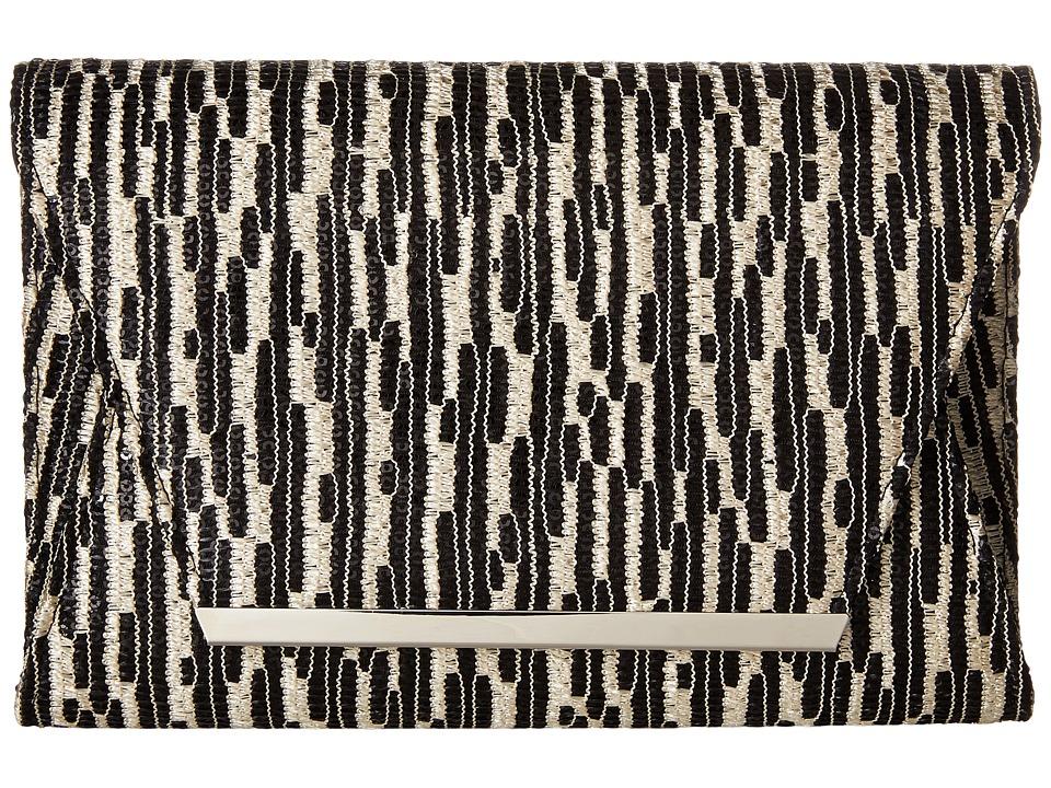 Jessica McClintock - Ryder Sequin Envelope Clutch (Black) Clutch Handbags