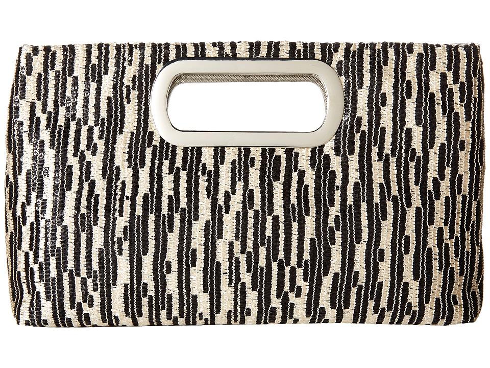 Jessica McClintock - Tiffany Sequin Clutch (Black) Clutch Handbags