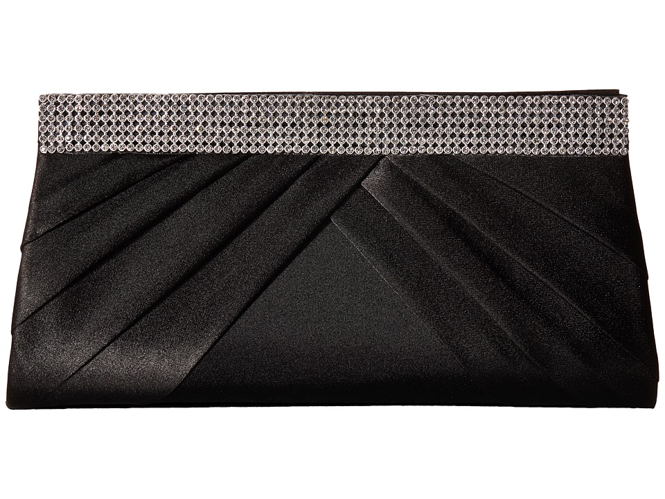 Jessica McClintock - Calista Rhinestone Clutch (Black) Clutch Handbags