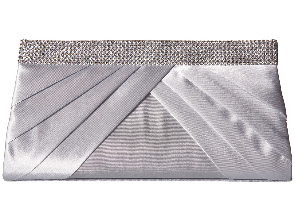 Jessica McClintock - Calista Rhinestone Clutch (Silver) Clutch Handbags