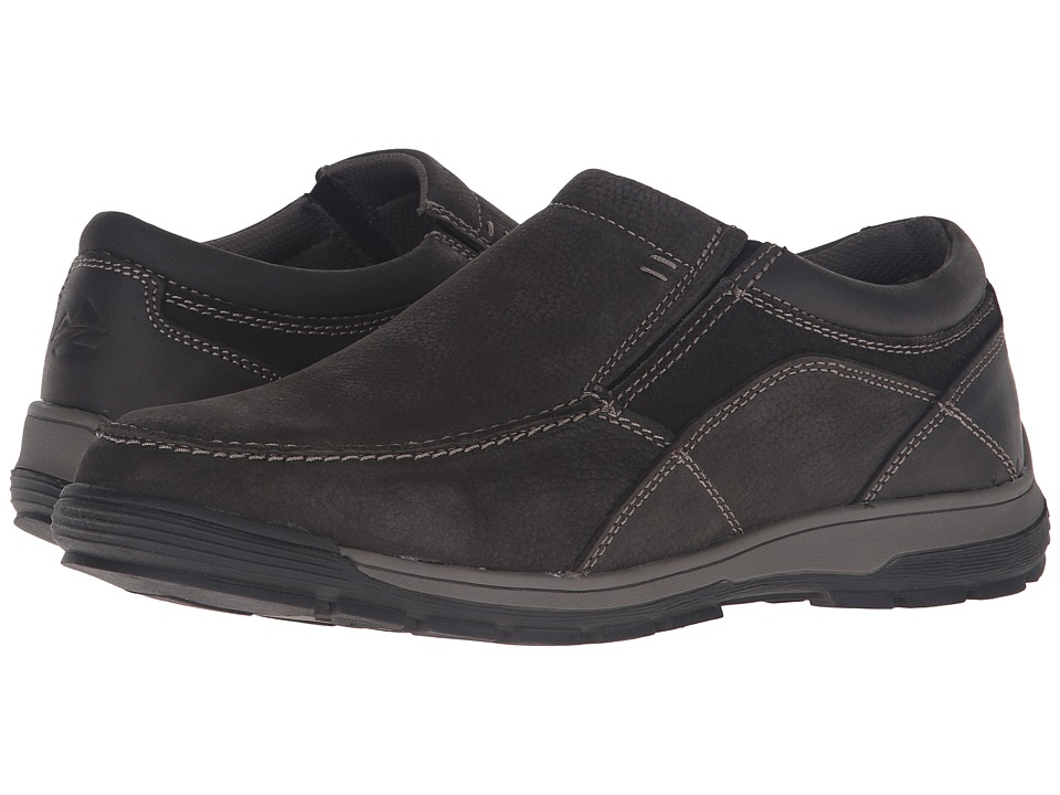 Nunn Bush - Lasalle Twin Gore Moc Toe Slip-On (Charcoal) Men