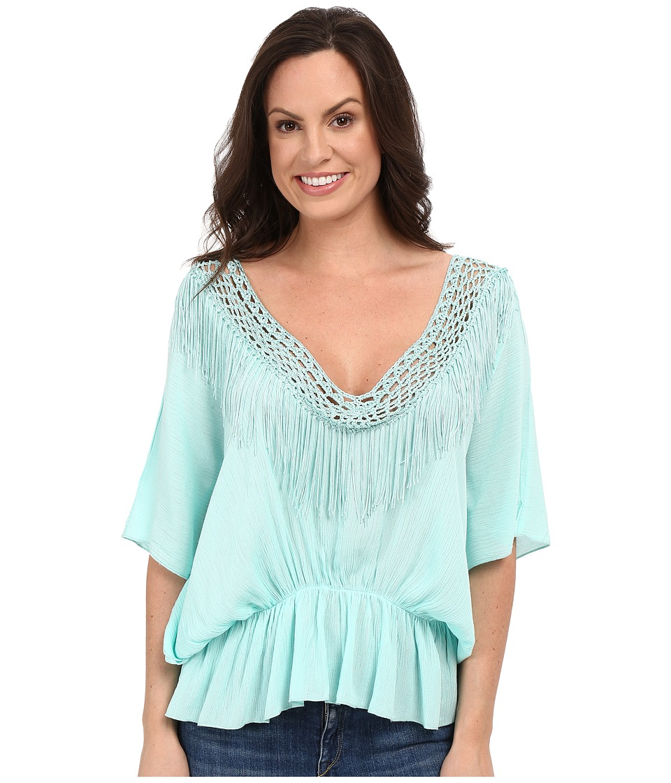 Petrol Its a Cinch Poncho Top Aqua Womens Clothing