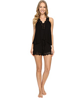 Betsey Johnson - Rayon Knit with Crochet Lace Shorts PJ Set
