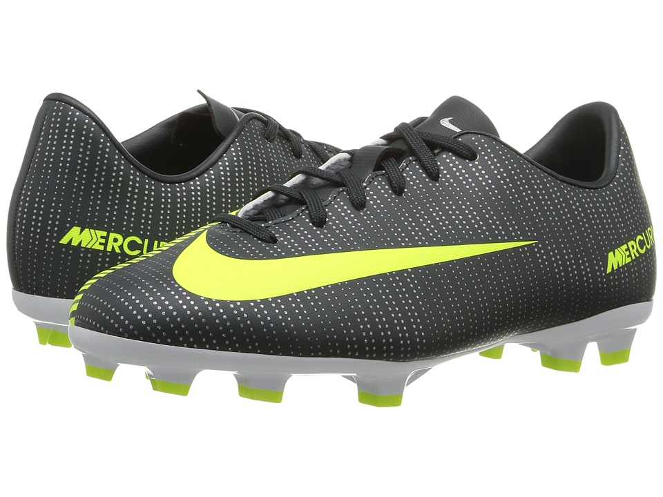Nike Kids - Jr Mercurial Vapor XI CR7 FG Soccer (Toddler/Little Kid/Big Kid) (Seaweed/Hasta/White/Volt) Kids Shoes