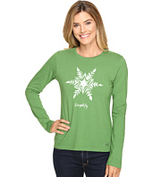 Life is good - Painted Simplify Snowflake Long Sleeve Crusher Tee