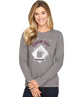 Life is good - Snow Day Mug Long Sleeve Crusher Tee