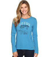 Life is good - Painted Apres Ski Long Sleeve Crusher Tee