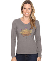 Life is good - Change is Good Leaf Long Sleeve Crusher Vee