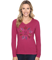 Life is Good - Circle Leaf Long Sleeve Crusher Vee