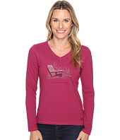 Life is good - Positive Altitude Adirondack Long Sleeve Crusher Vee