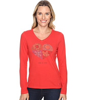 Life is good - Life is Good® Four Seasons Heart Long Sleeve Crusher Vee