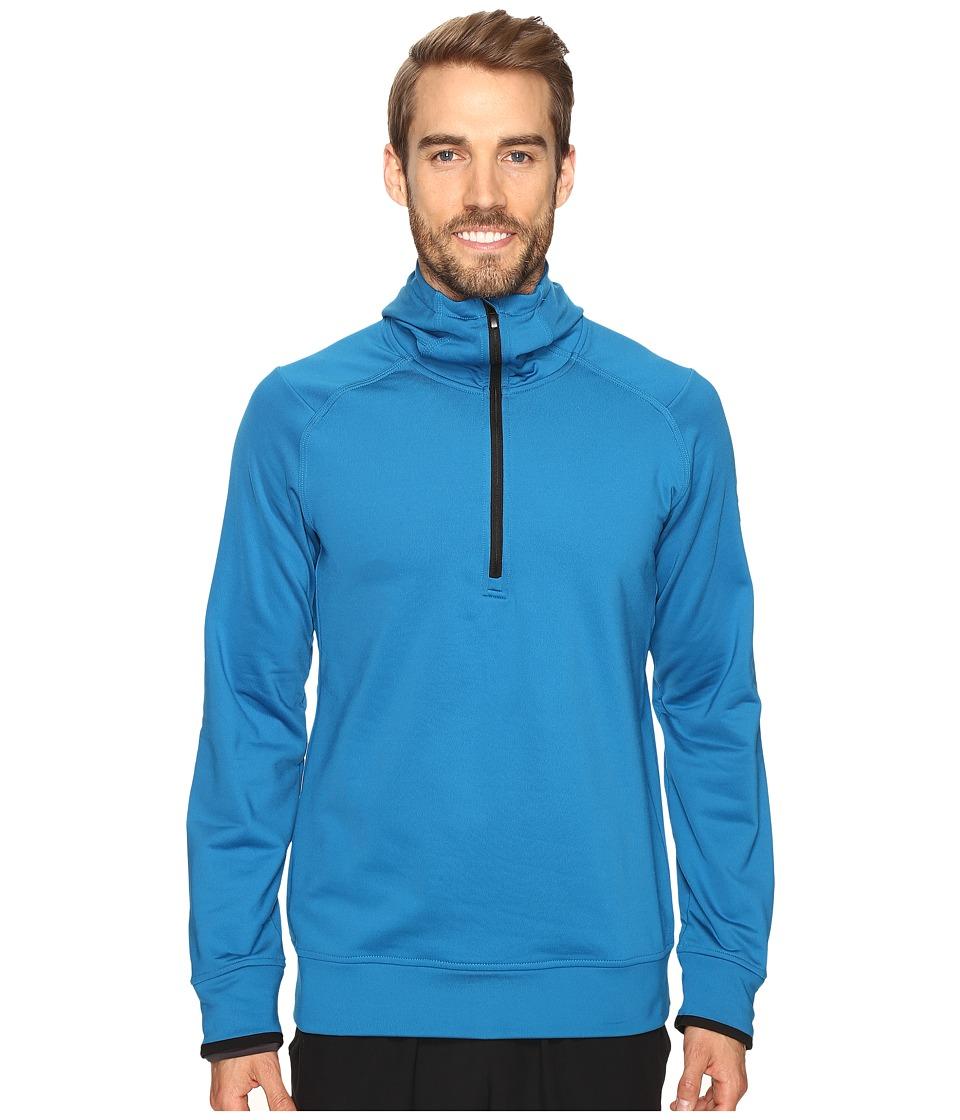 adidas CLIMAHEAT Half Zip Hoodie (Unity Blue) Men