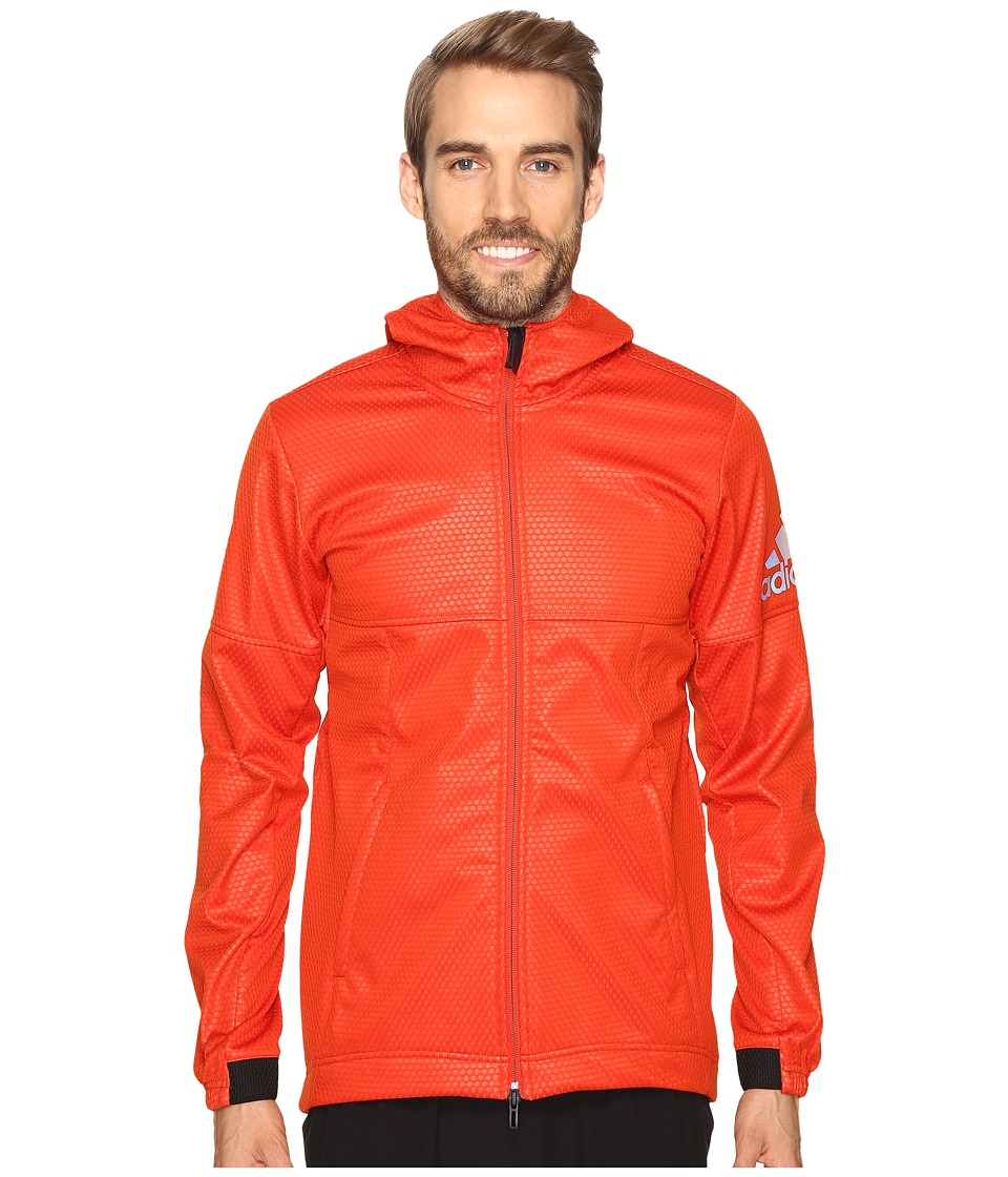 adidas CLIMASTORM Fleece Jacket (Craft Chili/Bold Orange) Men