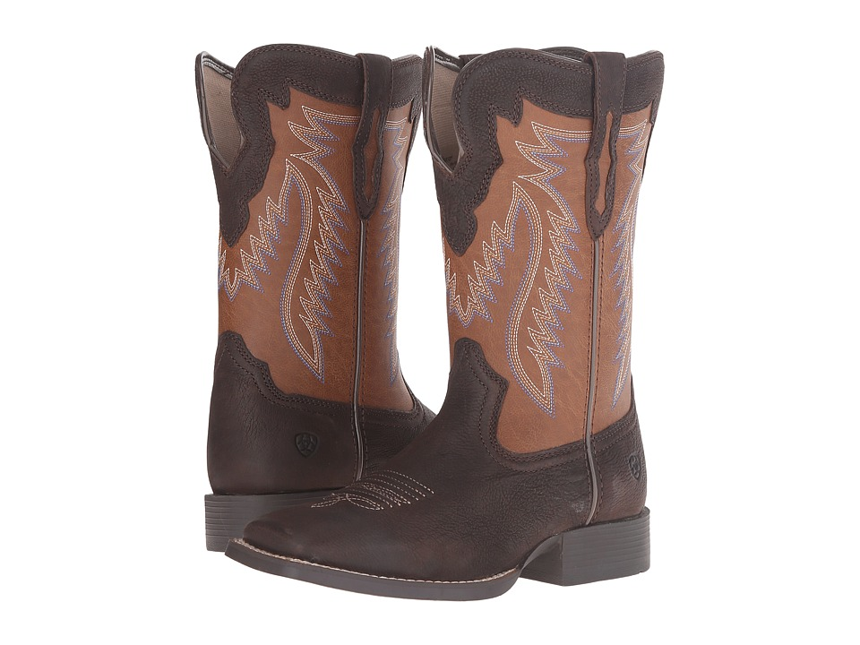 Image of Ariat Kids - Buscadero (Toddler/Little Kid/Big Kid) (Pecos Brown/Sorrel) Cowboy Boots