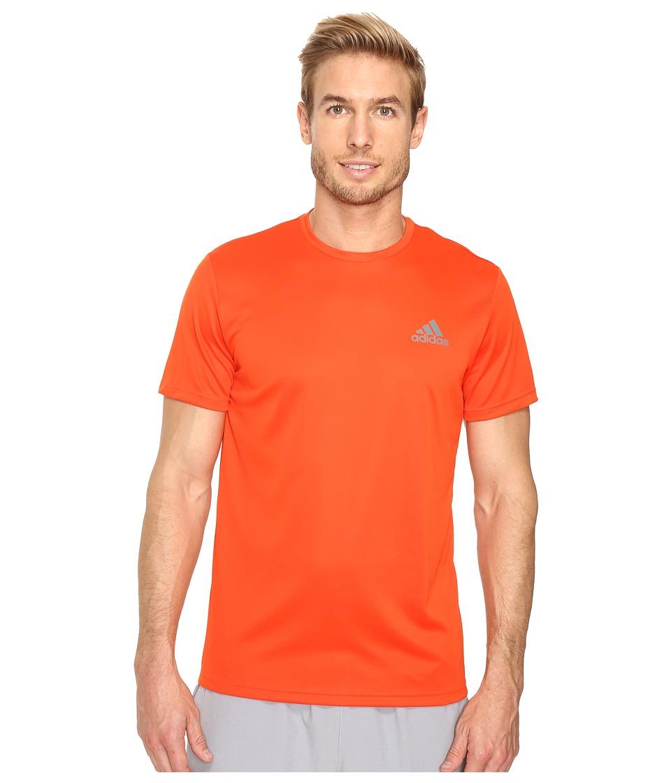 adidas Essential Tech Crew Tee (Bold Orange/Vista Grey) Men