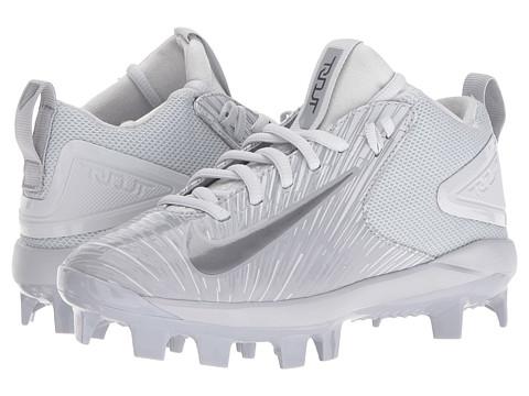 Nike Kids Trout 3 Pro BG Cleated Baseball (Big Kid) - Wolf Grey/Pure Platinum/Metallic Dark Grey