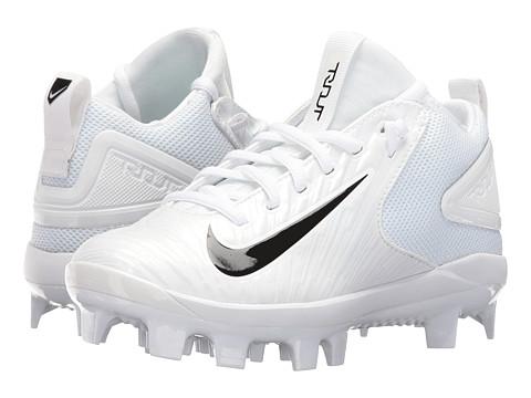 Nike Kids Trout 3 Pro BG Cleated Baseball (Big Kid) - White/Black
