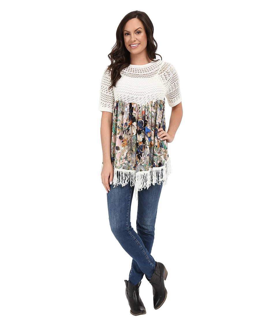 Petrol Oh My Printed Fringe Top Multi Womens Clothing