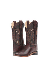 Old West Kids Boots - Square Toe Handed Tooled Print (Big Kid)