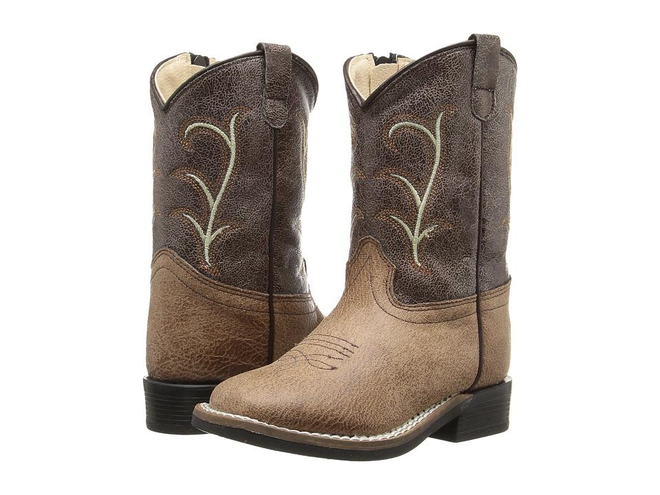 Old West Kids Boots - Square Toe Vintage