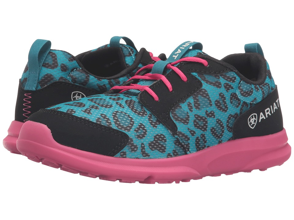 Ariat Kids - Fuse (Toddler/Little Kid/Big Kid) (Blue Leopard Mesh) Girls Shoes
