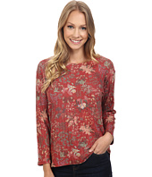 Nally & Millie - Floral Ribbed Top