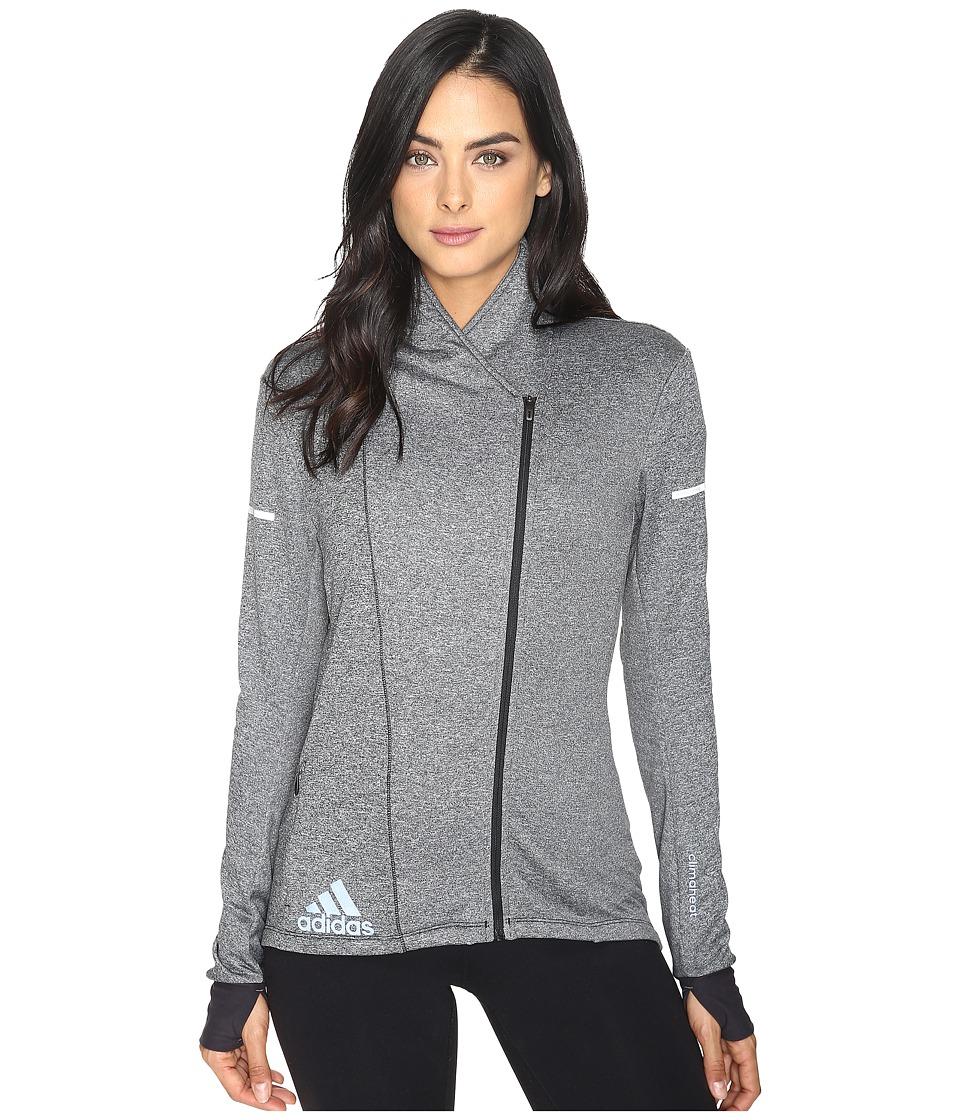adidas - Sequencials CLIMAHEAT Wrap Jacket (Black) Women's Coat