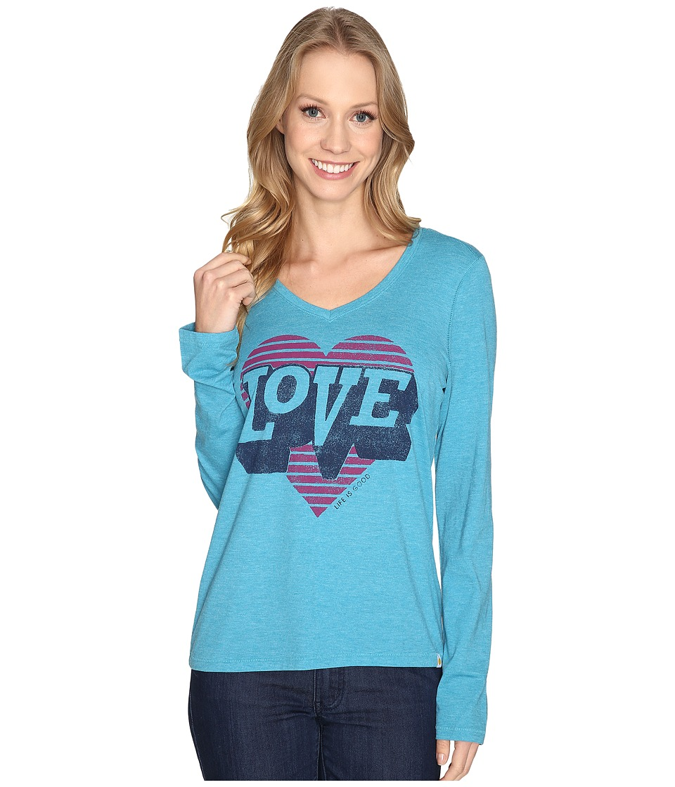 Life is Good Life is Good - Love Heart Long Sleeve Cool Vee