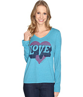 Life is good - Love Heart Long Sleeve Cool Vee