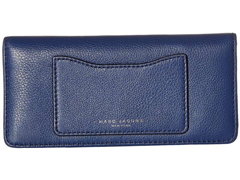 Marc Jacobs - Recruit Open Face Wallet (Dark Blue) Wallet Handbags