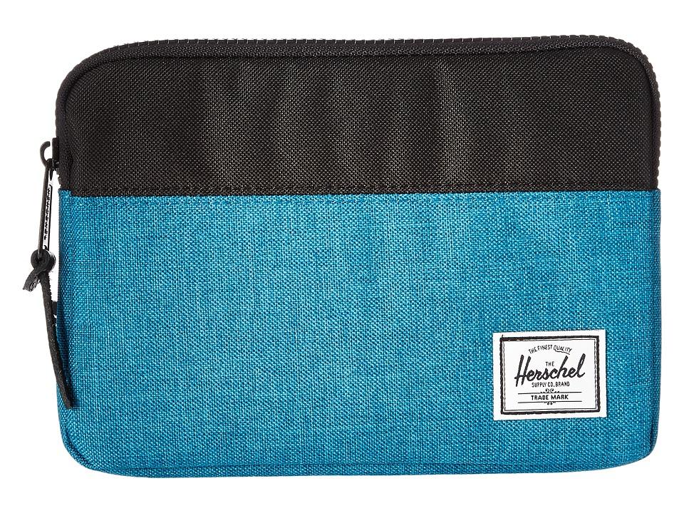 Herschel Supply Co. - Anchor Sleeve for iPad Mini (Petrol Crosshatch/Black) Computer Bags
