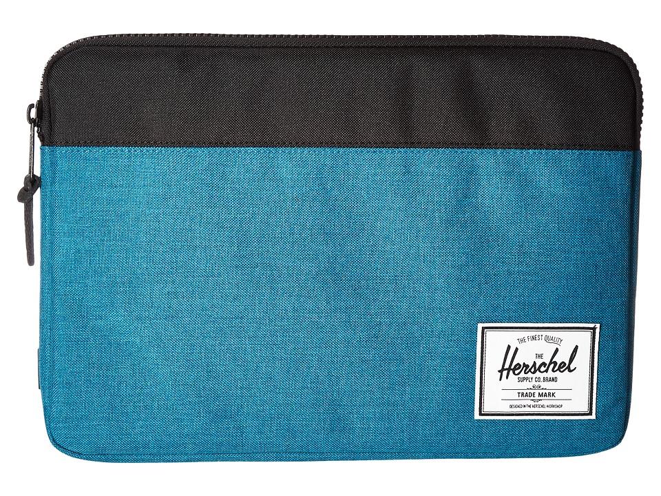 Herschel Supply Co. - Anchor Sleeve 13 (Petrol Crosshatch/Black) Computer Bags